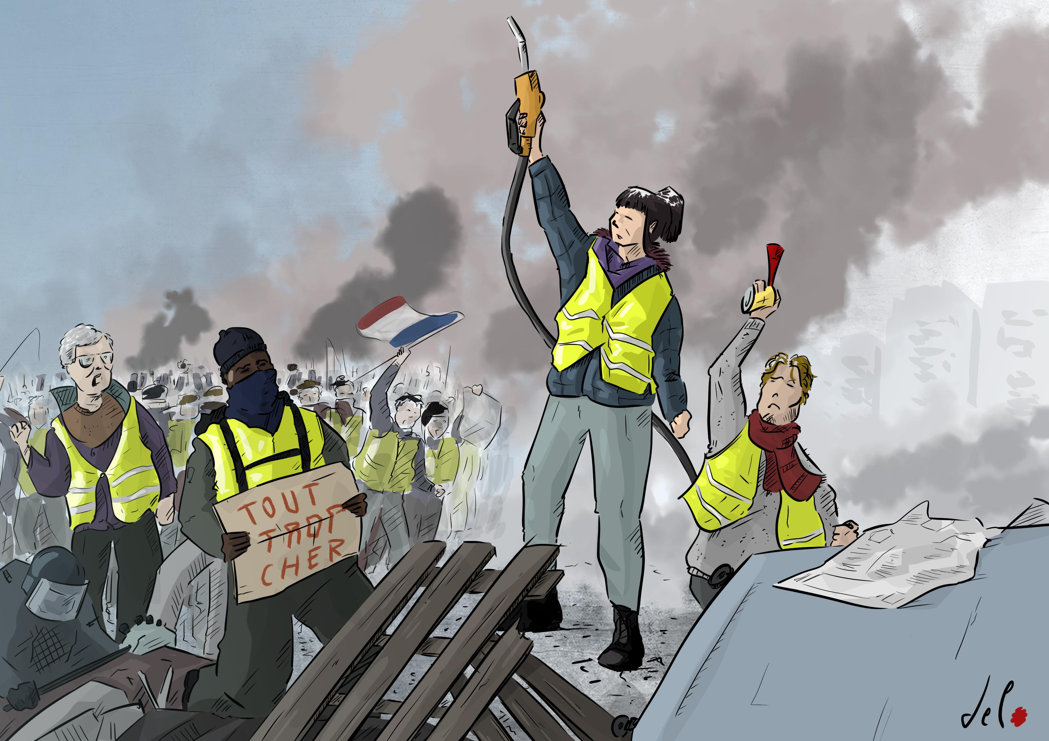 u201cle gilet guidant le peuple u201d  u2013 del rosso cartoons
