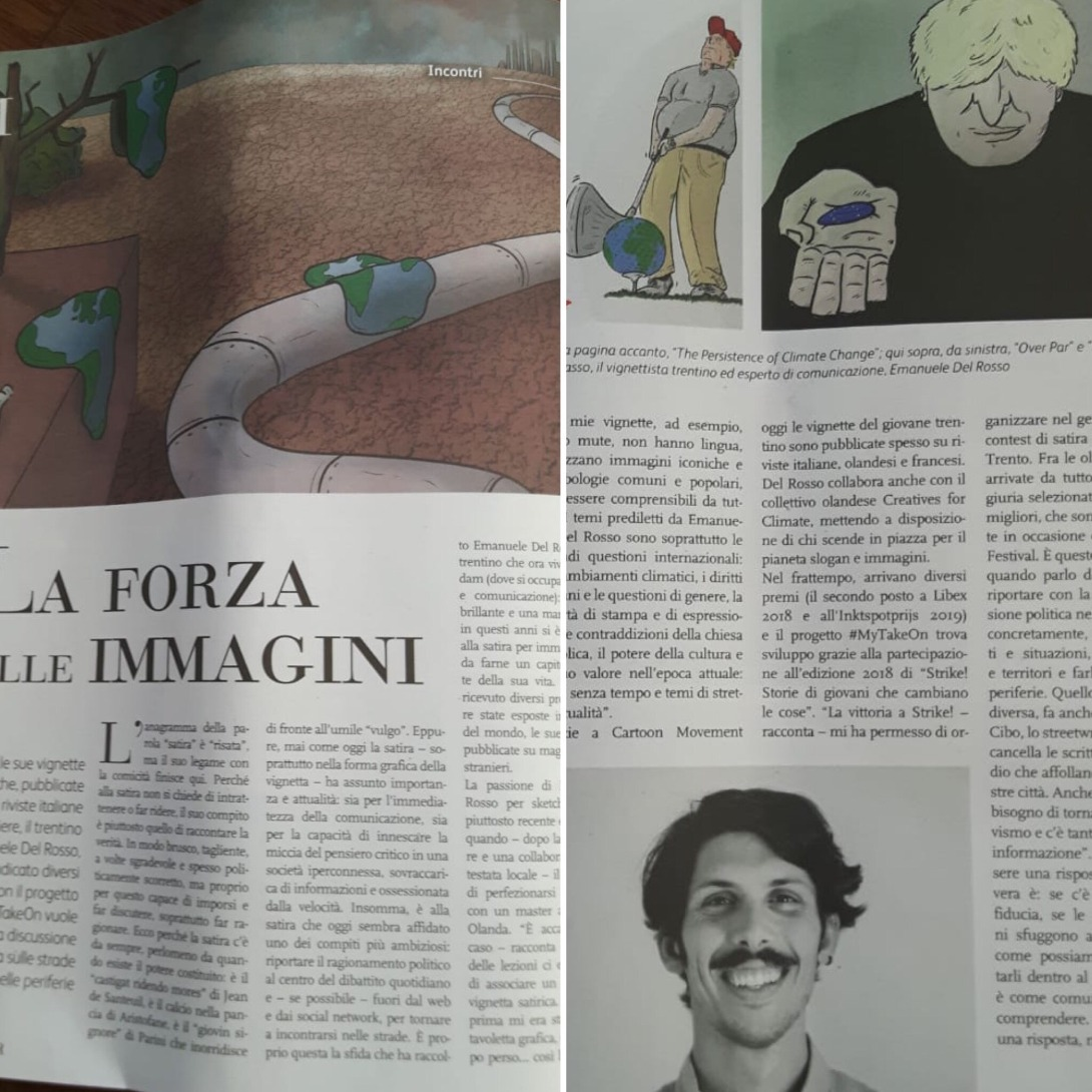 Interview About Satire On L Adige Del Rosso Cartoons