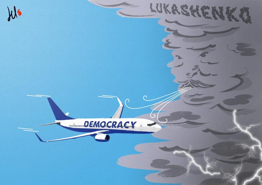 cartoon about lukashenko, belarus and ryanair