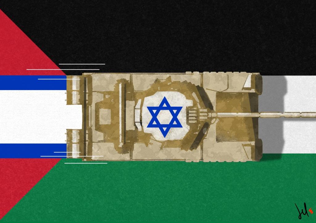 israel palestine cartoon