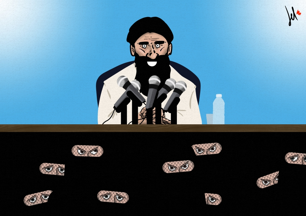 Cartoon on talibans by Emanuele Del ROsso