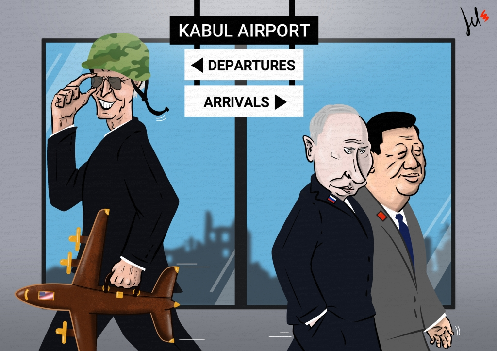 cartoon by emanuele del rosso about afghanistan